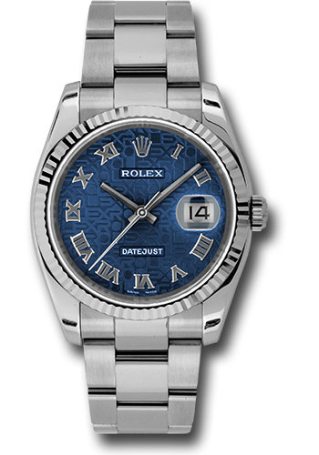 Rolex Watches - Datejust 36mm - Steel Fluted Bezel - Oyster Bracelet - Style No: 116234 bljro