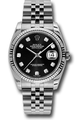 Rolex Watches - Datejust 36mm - Steel Fluted Bezel - Jublilee Bracelet - Style No: 116234 bkdj