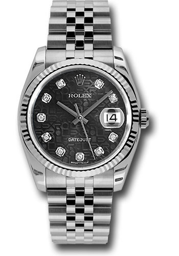 Rolex Watches - Datejust 36mm - Steel Fluted Bezel - Jublilee Bracelet - Style No: 116234 bkjdj