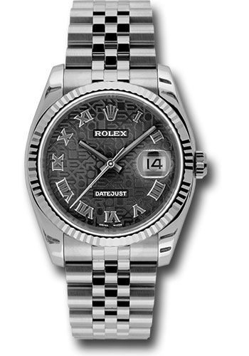Rolex Watches - Datejust 36mm - Steel Fluted Bezel - Jublilee Bracelet - Style No: 116234 bkjrj