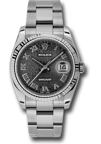 Rolex Watches - Datejust 36mm - Steel Fluted Bezel - Oyster Bracelet - Style No: 116234 bkjro