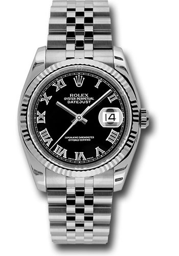 Rolex Watches - Datejust 36mm - Steel Fluted Bezel - Jublilee Bracelet - Style No: 116234 bkrj