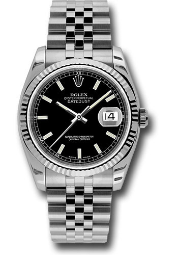 Rolex Watches - Datejust 36mm - Steel Fluted Bezel - Jublilee Bracelet - Style No: 116234 bksj