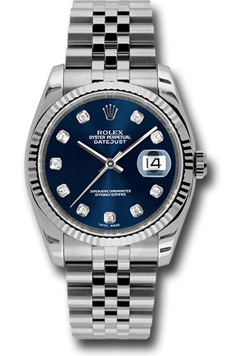 Rolex Watches - Datejust 36mm - Steel Fluted Bezel - Jublilee Bracelet - Style No: 116234 bldj