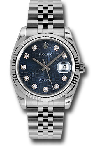 Rolex Watches - Datejust 36mm - Steel Fluted Bezel - Jublilee Bracelet - Style No: 116234 bljdj
