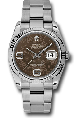 Rolex Watches - Datejust 36mm - Steel Fluted Bezel - Oyster Bracelet - Style No: 116234 brfao