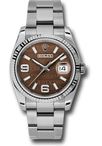 Rolex Watches - Datejust 36mm - Steel Fluted Bezel - Oyster Bracelet - Style No: 116234 brwdao