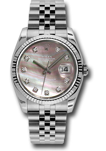 Rolex Watches - Datejust 36mm - Steel Fluted Bezel - Jublilee Bracelet - Style No: 116234 dkmdj