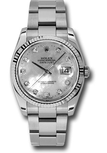 Rolex Watches - Datejust 36mm - Steel Fluted Bezel - Oyster Bracelet - Style No: 116234 mdo