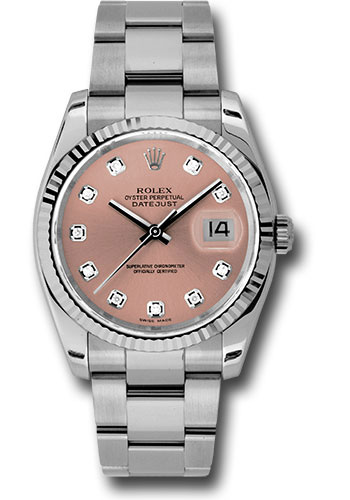 Rolex Watches - Datejust 36mm - Steel Fluted Bezel - Oyster Bracelet - Style No: 116234 pdo