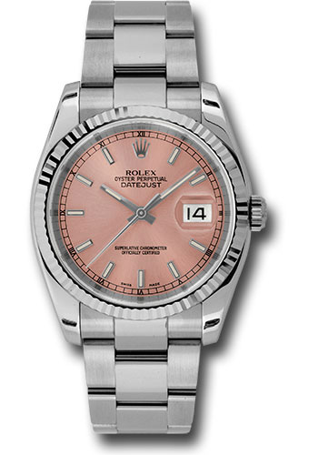 Rolex Watches - Datejust 36mm - Steel Fluted Bezel - Oyster Bracelet - Style No: 116234 pio