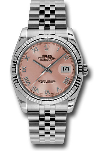 Rolex Watches - Datejust 36mm - Steel Fluted Bezel - Jublilee Bracelet - Style No: 116234 prj