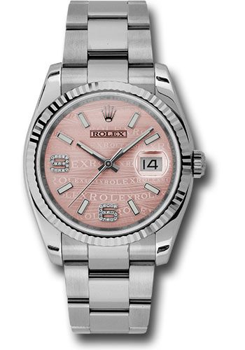 Rolex Watches - Datejust 36mm - Steel Fluted Bezel - Oyster Bracelet - Style No: 116234 pwdao