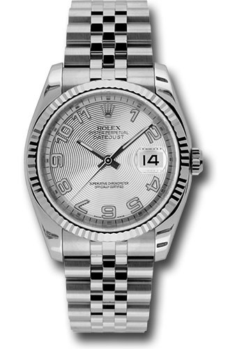 Rolex Watches - Datejust 36mm - Steel Fluted Bezel - Jublilee Bracelet - Style No: 116234 scaj
