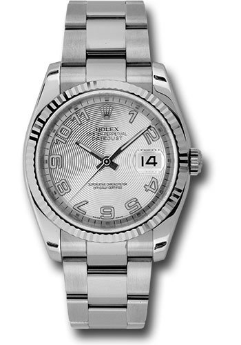 Rolex Watches - Datejust 36mm - Steel Fluted Bezel - Oyster Bracelet - Style No: 116234 scao