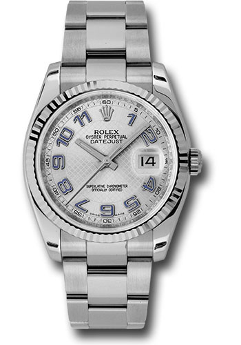 Rolex Watches - Datejust 36mm - Steel Fluted Bezel - Oyster Bracelet - Style No: 116234 sdblao