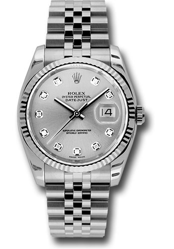 Rolex Watches - Datejust 36mm - Steel Fluted Bezel - Jublilee Bracelet - Style No: 116234 sdj