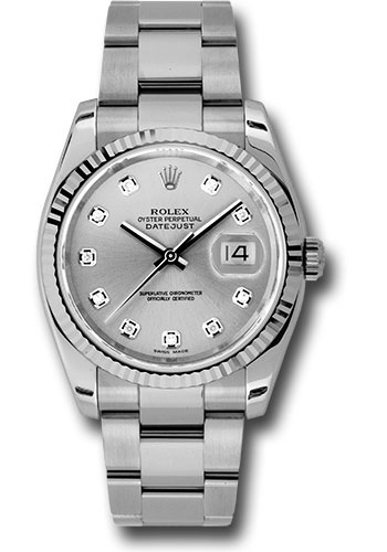Rolex Watches - Datejust 36mm - Steel Fluted Bezel - Oyster Bracelet - Style No: 116234 sdo