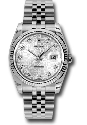 Rolex Watches - Datejust 36 Steel and White Gold - Fluted Bezel - Jubilee - Style No: 116234 sjdj
