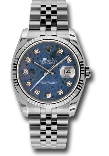 Rolex Watches - Datejust 36 Steel and White Gold - Fluted Bezel - Jubilee - Style No: 116234 sodj