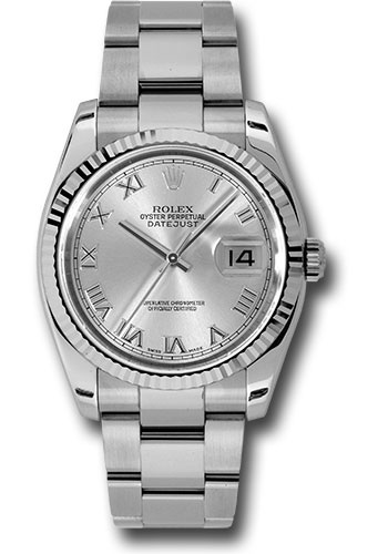 Rolex Watches - Datejust 36mm - Steel Fluted Bezel - Oyster Bracelet - Style No: 116234 sro