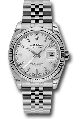 Rolex Watches - Datejust 36mm - Steel Fluted Bezel - Jublilee Bracelet - Style No: 116234 ssj