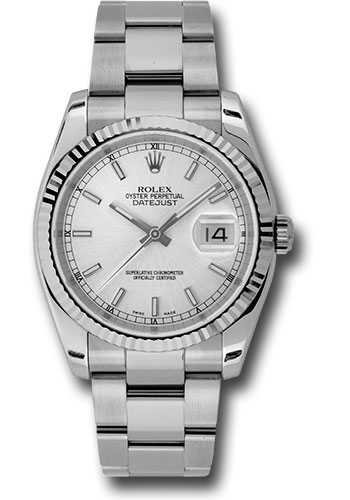Rolex Watches - Datejust 36mm - Steel Fluted Bezel - Oyster Bracelet - Style No: 116234 sso