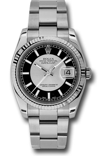 Rolex Watches - Datejust 36mm - Steel Fluted Bezel - Oyster Bracelet - Style No: 116234 stbkso