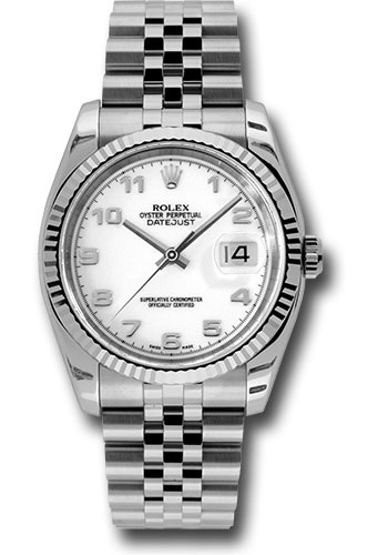 Rolex Watches - Datejust 36mm - Steel Fluted Bezel - Jublilee Bracelet - Style No: 116234 waj