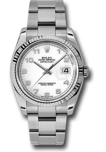 Rolex Watches - Datejust 36mm - Steel Fluted Bezel - Oyster Bracelet - Style No: 116234 wao