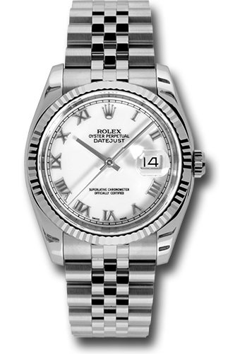 Rolex Watches - Datejust 36mm - Steel Fluted Bezel - Jublilee Bracelet - Style No: 116234 wrj