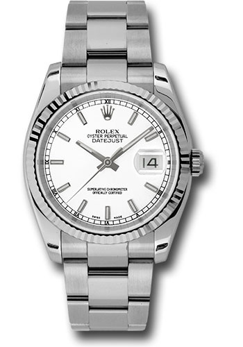 Rolex Watches - Datejust 36mm - Steel Fluted Bezel - Oyster Bracelet - Style No: 116234 wso
