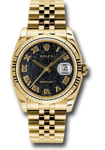 Rolex Watches - Datejust 36 Yellow Gold - Fluted Bezel - Jubilee - Style No: 116238 bkjrj
