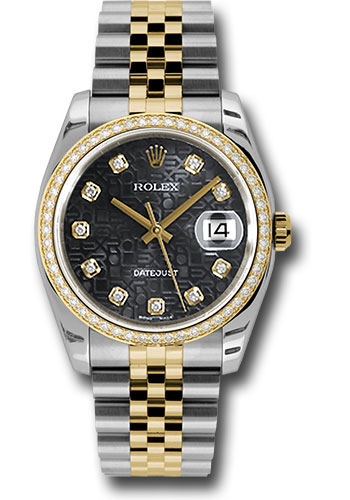 Rolex Watches - Datejust 36mm - Steel and Gold Yellow Gold - Diamond Bezel - Jubilee - Style No: 116243 bkjdj