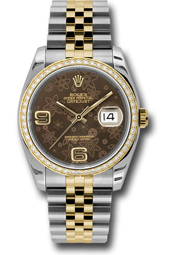 Rolex Watches - Datejust 36mm - Steel and Gold Yellow Gold - Diamond Bezel - Jubilee - Style No: 116243 brfaj