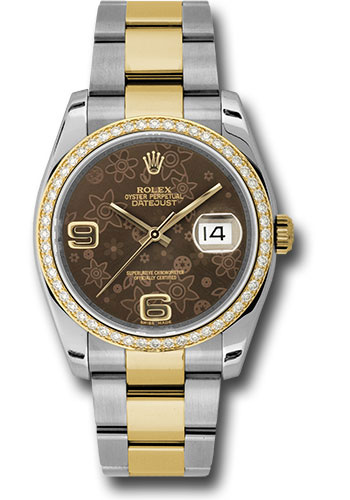 Rolex Watches - Datejust 36mm - Steel and Gold Yellow Gold - Diamond Bezel - Oyster - Style No: 116243 brfao