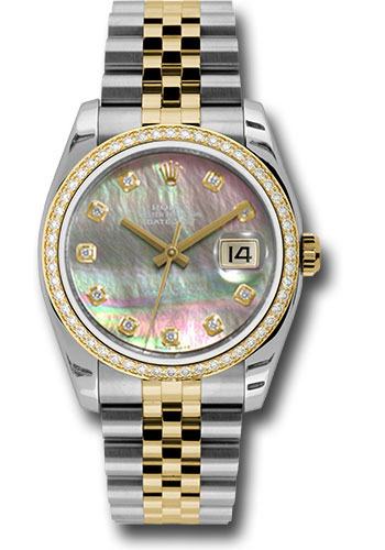 Rolex Watches - Datejust 36mm - Steel and Gold Yellow Gold - Diamond Bezel - Jubilee - Style No: 116243 dkmdj