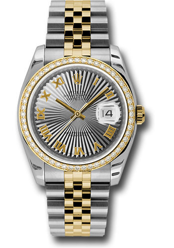 Rolex Watches - Datejust 36 Steel and Yellow Gold - Diamond Bezel - Jubilee - Style No: 116243 gsbrj