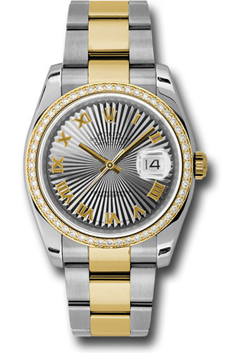 Rolex Watches - Datejust 36 Steel and Yellow Gold - Diamond Bezel - Oyster - Style No: 116243 gsbro