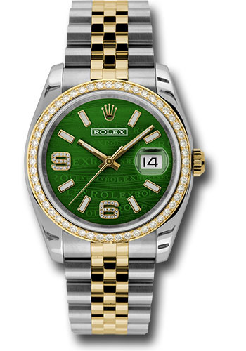 Rolex Watches - Datejust 36 Steel and Yellow Gold - Diamond Bezel - Jubilee - Style No: 116243 gwdaj