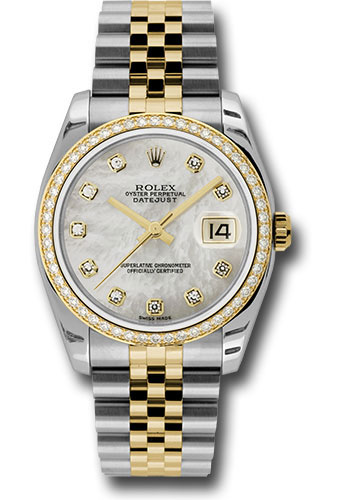 Rolex Watches - Datejust 36 Steel and Yellow Gold - Diamond Bezel - Jubilee - Style No: 116243 mdj