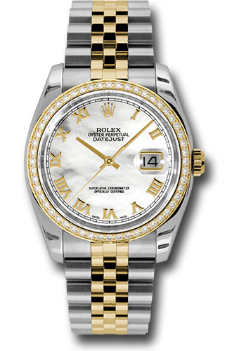 Rolex Watches - Datejust 36mm - Steel and Gold Yellow Gold - Diamond Bezel - Jubilee - Style No: 116243 mrj
