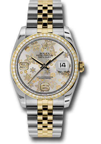 Rolex Watches - Datejust 36mm - Steel and Gold Yellow Gold - Diamond Bezel - Jubilee - Style No: 116243 sfaj