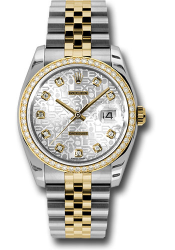 Rolex Watches - Datejust 36mm - Steel and Gold Yellow Gold - Diamond Bezel - Jubilee - Style No: 116243 sjdj