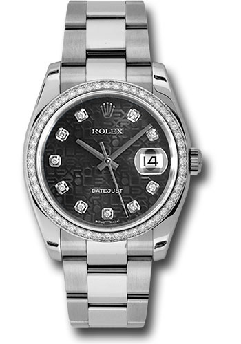 Rolex Watches - Datejust 36mm - Steel White Gold Dia Bezel - Oyster - Style No: 116244 bkjdo