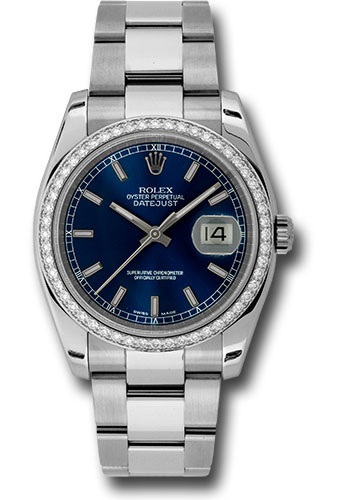 Rolex Watches - Datejust 36mm - Steel White Gold Dia Bezel - Oyster - Style No: 116244 blio