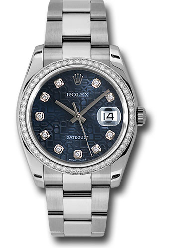 Rolex Watches - Datejust 36mm - Steel White Gold Dia Bezel - Oyster - Style No: 116244 bljdo