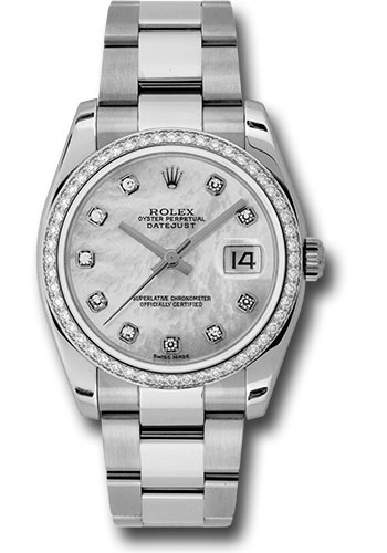 Rolex Watches - Datejust 36mm - Steel White Gold Dia Bezel - Oyster - Style No: 116244 mdo