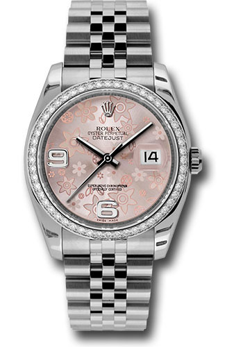 Rolex Watches - Datejust 36 Steel and White Gold - Diamond Bezel - Jubilee - Style No: 116244 pfaj