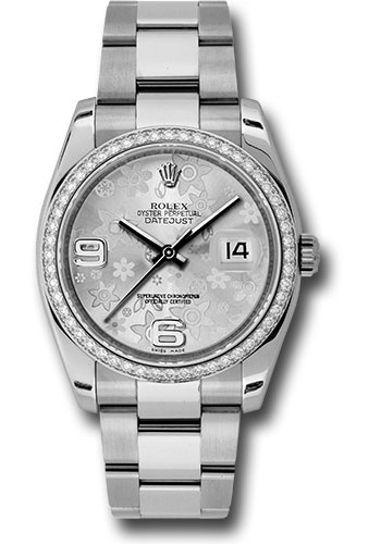 Rolex Watches - Datejust 36mm - Steel White Gold Dia Bezel - Oyster - Style No: 116244 sfao